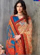Blue Tussar Silk Party & Festival Wear Digital Printed Sarees Signature Saree Collection-2 T-1511 By Saptrangi