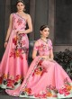 Pink Silk Wedding & Party Wear 2 in 1 Lehenga Gown Signature Collection Season-8 SL-803A By Saptrangi