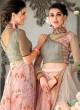 Grey Organza Silk 2 in 1 Lehenga Gown For Wedding Ceremony Couture Classics 907 By Saptrangi Sarees SC/CC907