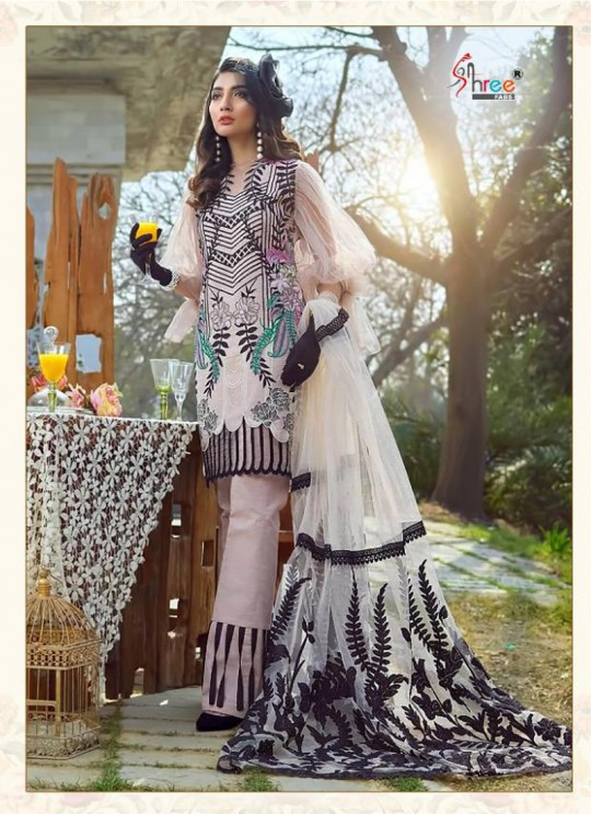 Asifa Nabeel Lawn Collection By Shree Fab 1234 Pink Cocktail Pakistani Shalvar Kameez Sc/018125