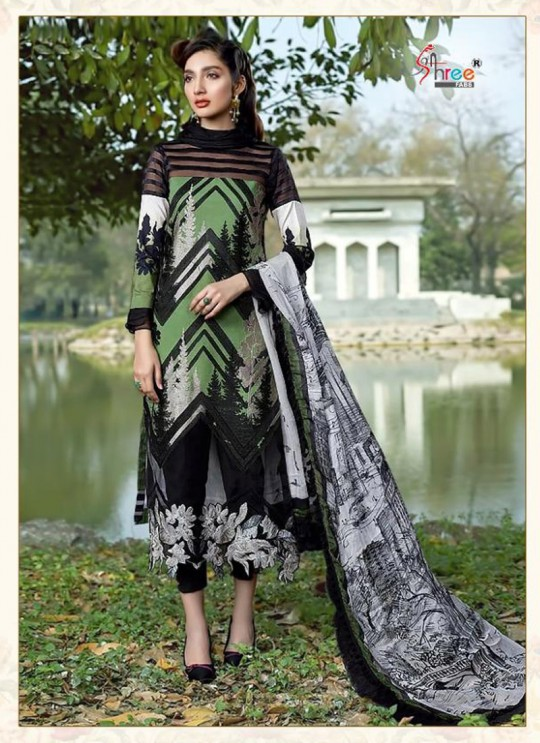 Asifa Nabeel Lawn Collection By Shree Fab 1237 Multicolor Cocktail Pakistani Shalvar Kameez Sc/018125