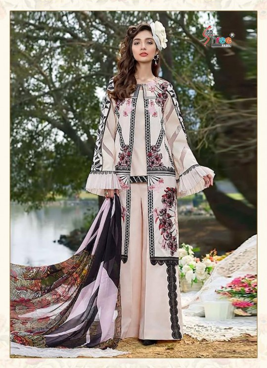 Asifa Nabeel Lawn Collection By Shree Fab 1238 Pink Cocktail Pakistani Shalvar Kameez Sc/018125