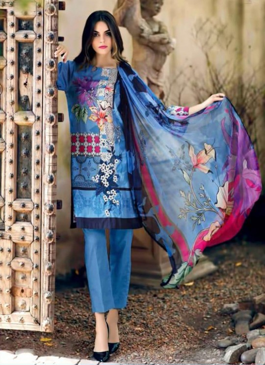 Blue Pure Cottom Pakistani Suit Charizma Aniq Collection 3111 By Shree Fabs SC/016223