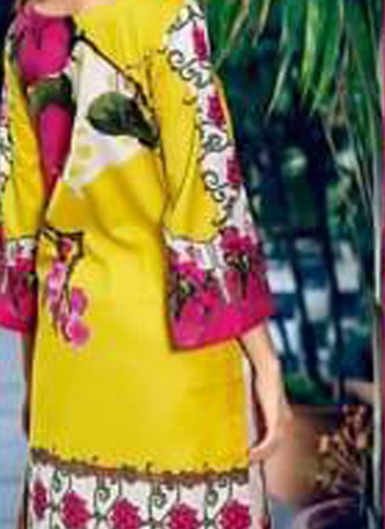Yellow Pure Cottom Pakistani Suit Charizma Aniq Collection 3114 By Shree Fabs SC/016223