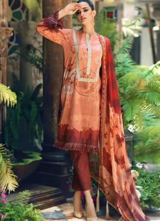 Peach Pure Cottom Pakistani Suit Charizma Aniq Collection 3115 By Shree Fabs SC/016223