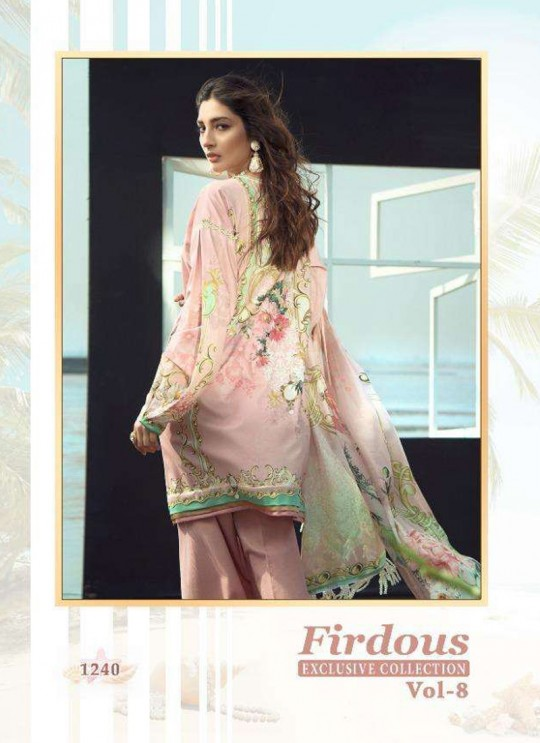 Firdous Vol 8 Chiffon By Shree Fab 1240 Peach Party Wear Pakistani Shalvar Kameez SC/018099