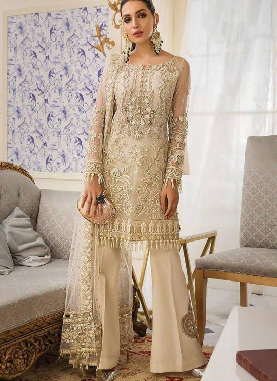 Off White Net Party Wear Pakistani Suit Gulal Emb Collection Vol 2 2141 By Shree Fabs SC/015977