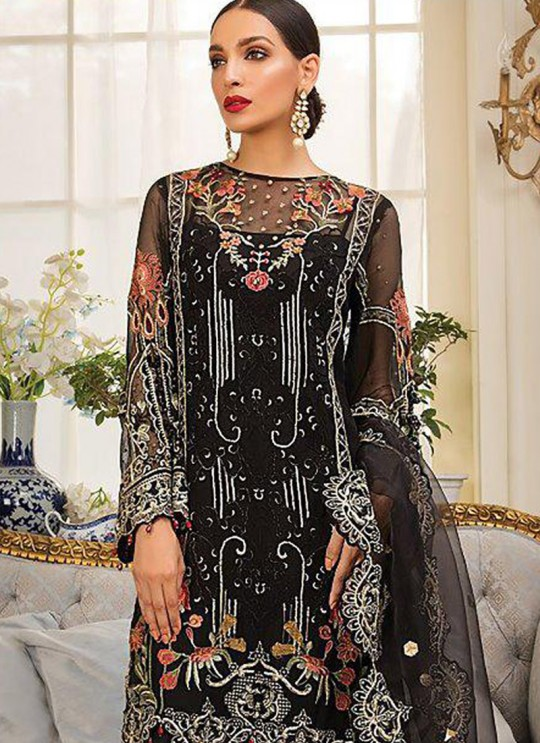 Black Net Party Wear Pakistani Suit Gulal Emb Collection Vol 2 2145 By Shree Fabs SC/015977