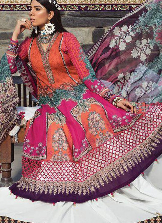 Multicolor Pure Cotton Casual Wear Pakistani Suit Mariya N Print Vol 3 5631 By Shree Fabs SC/016060