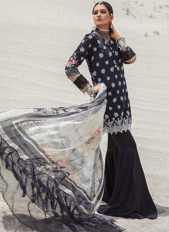 Black Pure Cotton Casual Wear Pakistani Suit Mariya N Print Vol 3 5635 By Shree Fabs SC/016060