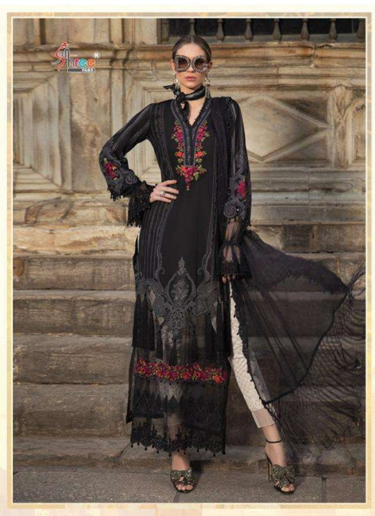 Mariya B Lawn Spring Summer 20 Vol 1 By Shree Fab Black Pure Cotton Eid Wear Pakistani Suit 1194