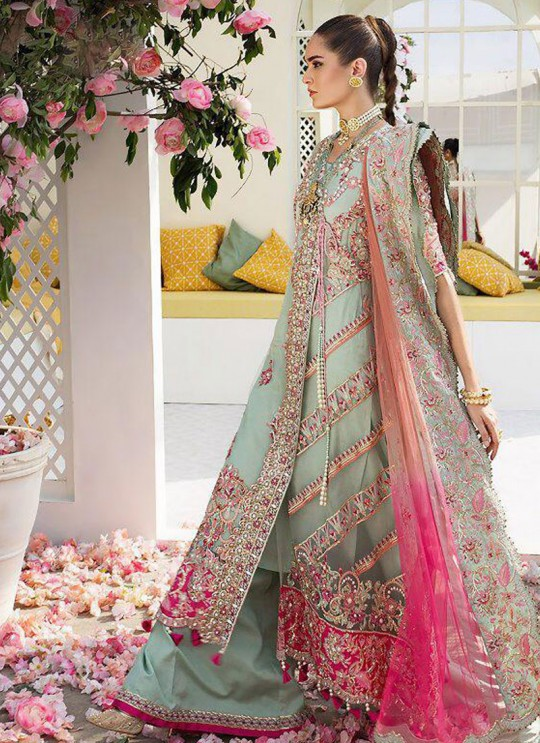 Green Net Party Wear Pakistani Suit Crimson Bridal Collection Vol 2 8161 By Shree Fabs SC/016149