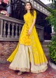 Violet Vol 31 By Swagat 6405 Yellow Tussar Satin Party Wear Sharara Suit