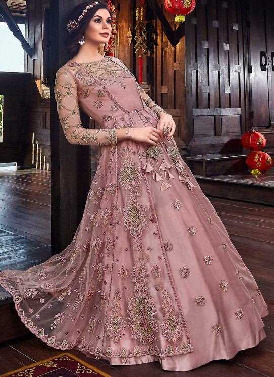 Wedding & Party Wear Floor Length Anarkali In Mauve Color Violet Vol 26 - 6102 By Swagat SC/016378