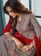 Grey Georgette Palazzo Suit For Wedding Ceremony Royal Bliss 808 By Sybella Creations SC/014252
