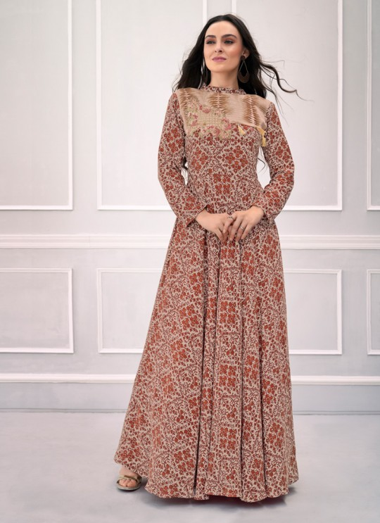 Multicolor Rayon Festival Wear Ready Made Gown 1105 By Vardan