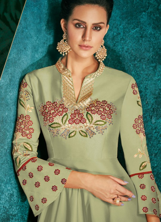 Embroidered Designer Gown Rozi Silver Vol 1 By Vardan 51018C
