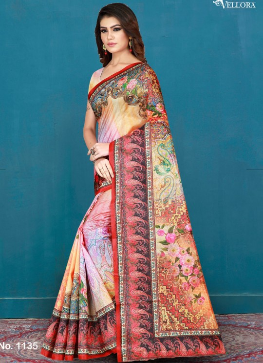 Multicolor Cotton Printed Festival Wear Designer Saree Vellora Saree Vol 2 1135 By Vellora