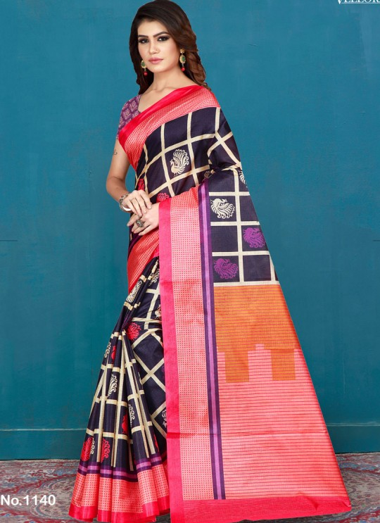 Purple Art Silk Printed Festival Wear Designer Saree Vellora Saree Vol 2 1140 By Vellora