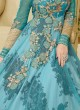 Blue Net Gown Style Dcat-40 4002 By Vipul Fashions SC/001582