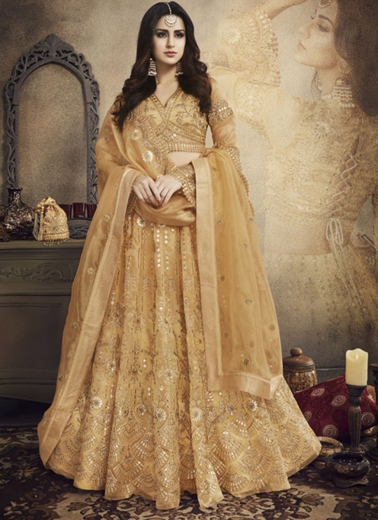Yellow Net Bridal A-Line Lehenga  Legacy 27001 By Zoya SC/013091