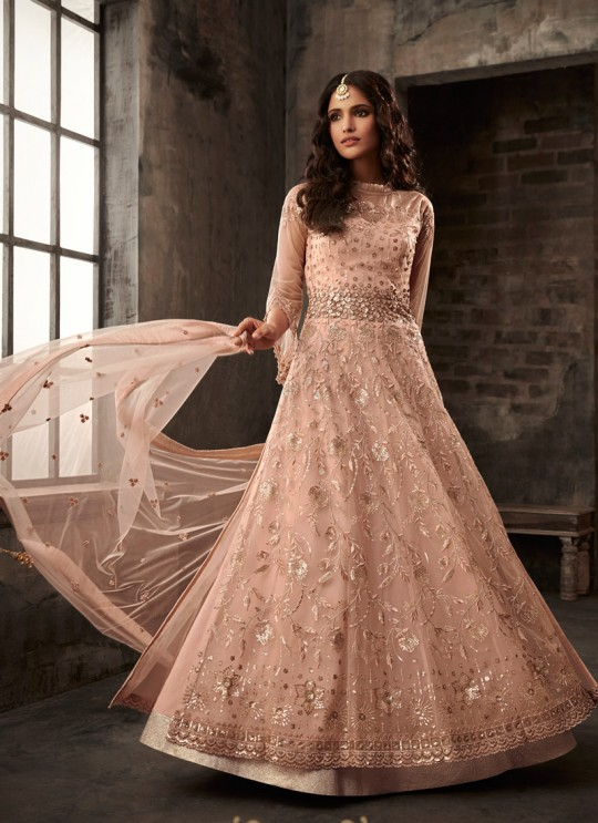 Dusty Pink Net Bridal Pakistani Suit Passion 33001 Set By Zoya