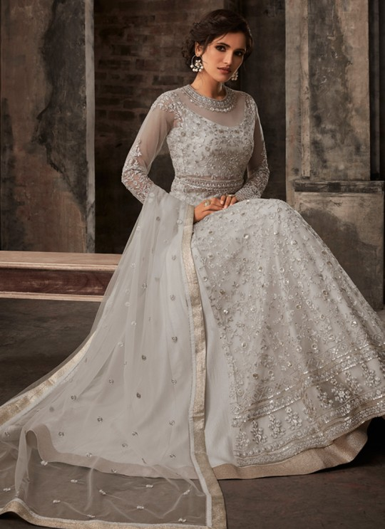 Off White Net Bridal Pakistani Suit Passion 33002 Set By Zoya