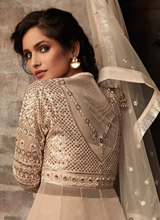 Beige Net Bridal Dhoti Kameez Passion 33006 Set By Zoya