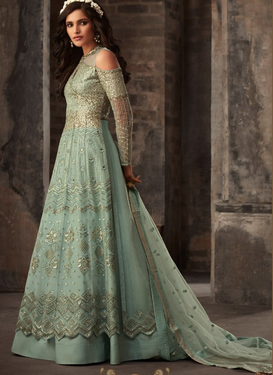 Green Net Bridal Pakistani Suit Passion 33007 Set By Zoya