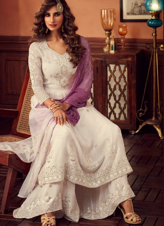 Off White Palazzo Suit For Bridesmaids Traditional 34004 By Zoya