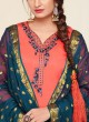 Orange Jam Silk Cotton Embroidered Punjabi Suit Patiala Club Vol-3 1028 By Sparrow
