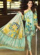Pure Cotton Casual Wear Pakistani Suits In Sky Blue Color Firdous Silver Dupatta 6173 By Shree Fabs SC/016000