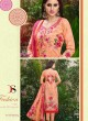 Peach Cotton Straight Cut Suit HOUSE OF COTTON 2004 By Deepsy