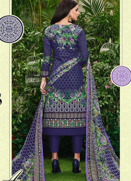 Blue Cotton Straight Cut Suit HOUSE OF COTTON 2008 By Deepsy