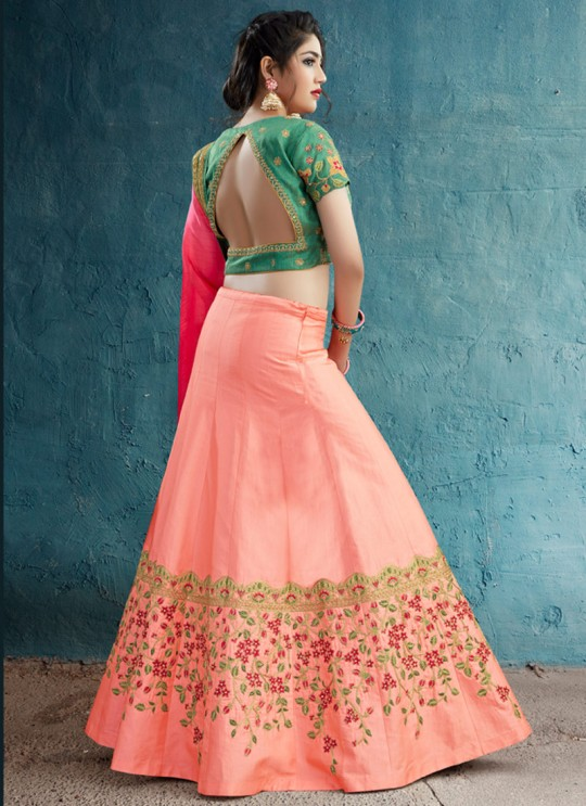Pink Art Silk Embroidered Wedding Wear Designer Lehenga Choli GARLIOAS LEHENGHA VOL-1 L-44 By Gulzar