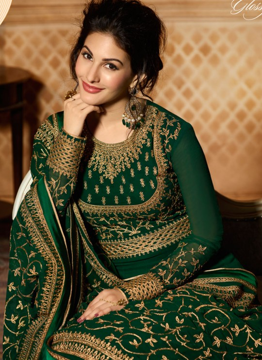 Green Georgette Floor Length Anarkali AMYRA 9083 By Glossy