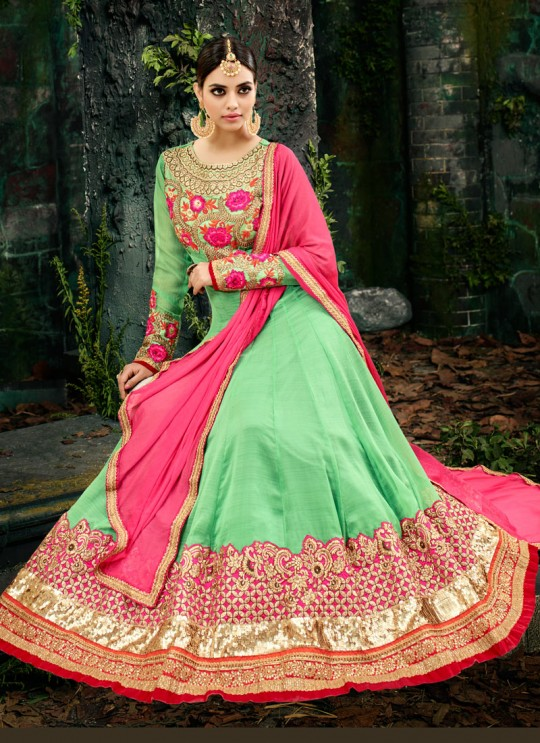 Green Georgette Floor Length Anarkali Maheera 11226 By Hotlady SC/006868
