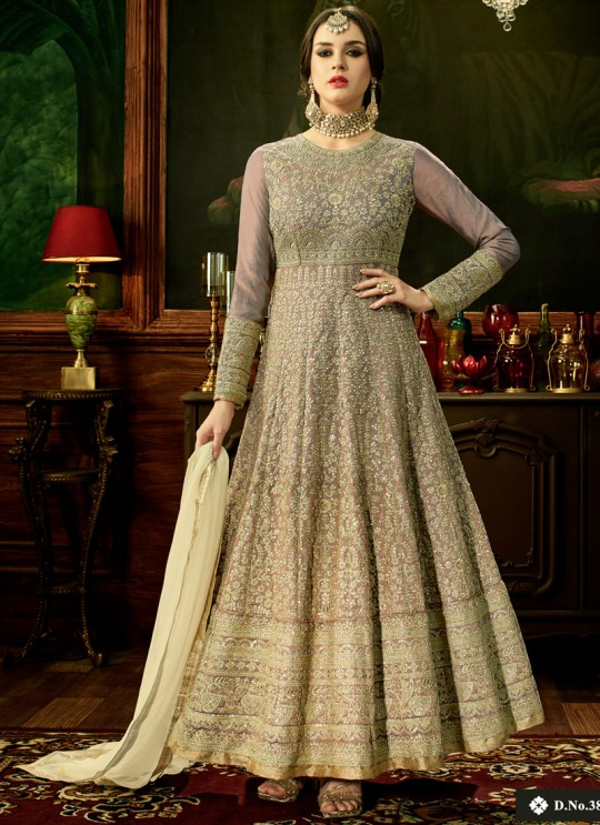 Brown Swiss Shadow Floor Length Anarkali Shahna 3884 By Hotlady SC/006069