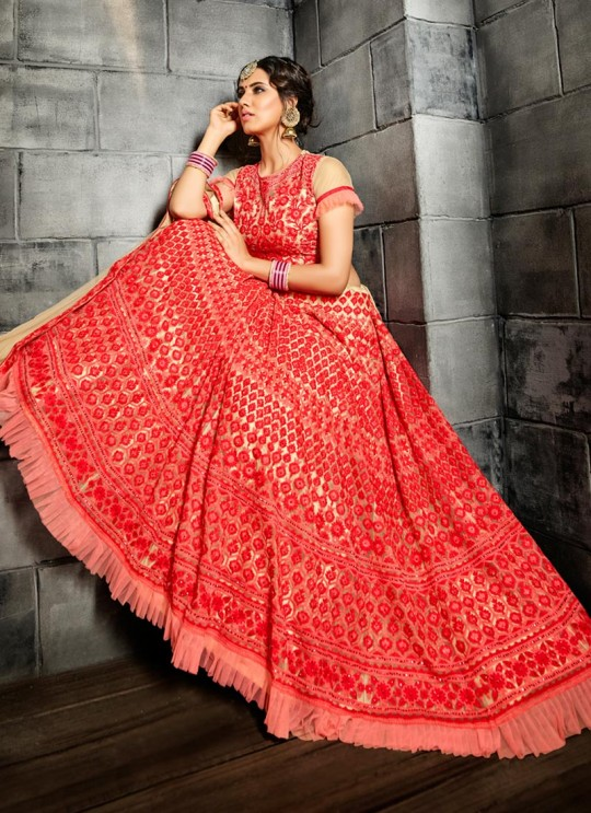 Cream Net Lehenga Choli Suhaani Vol 4 4991 By Hotlady SC/012178