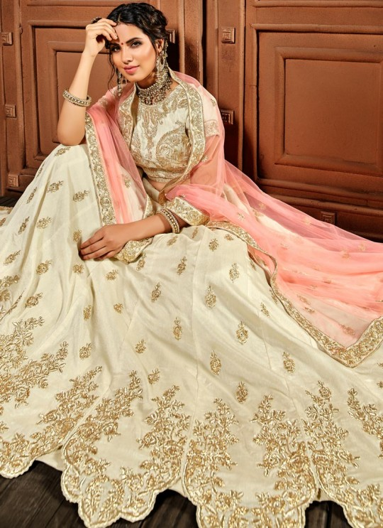 Cream Silk Lehenga Choli Suhaani Vol 4 4992 By Hotlady SC/012179