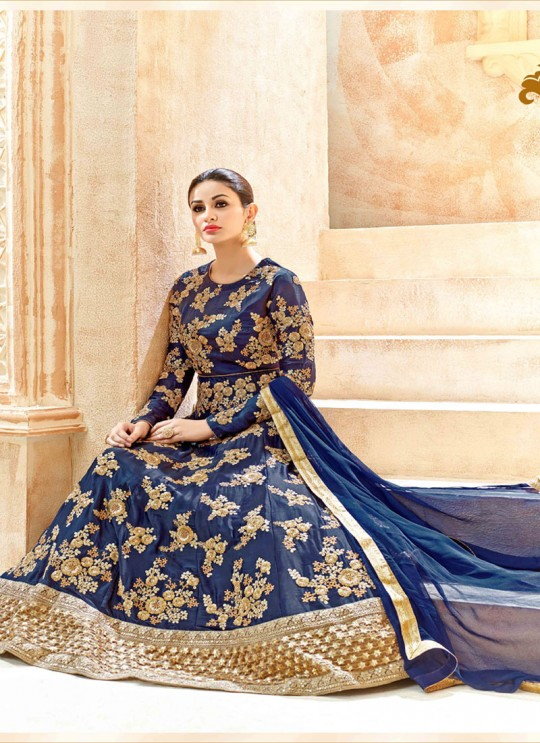 Blue Swiss Shadow Floor Length Anarkali Shaleen 7221 By Hotlady SC/005263