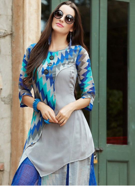 Multicolor Rayon KUMB XPERIA 1120 Designer Kurtis By Sparrow SC/0060127