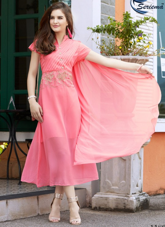Pink Georgette KUMB EXPRESS 1189 Party Wear Kurtis By Sparrow SC/009544