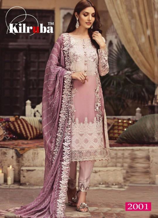 Dusty Pink Georgette Embroidered Party Wear Pakistani Salwar Kameez Jannat 2001 By Kilruba