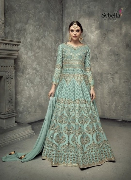 Tussar Silk Floor Length Anarkali Suit 402 By Sybella