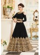 Aashirwad Veeda Black Faux Georgette Anarkali Suit By Aashirwad Veeda-01C (Black)