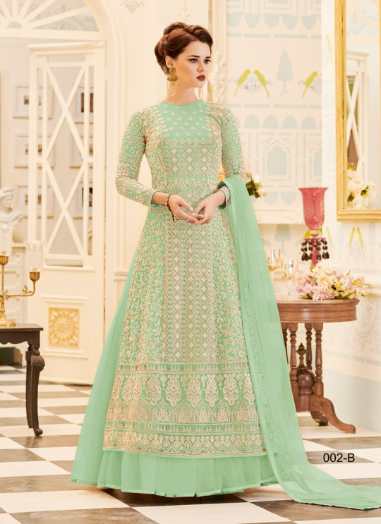 Aashirwad Veeda Light Peach Pure Georgette Anarkali Suit By Aashirwad Veeda-02A