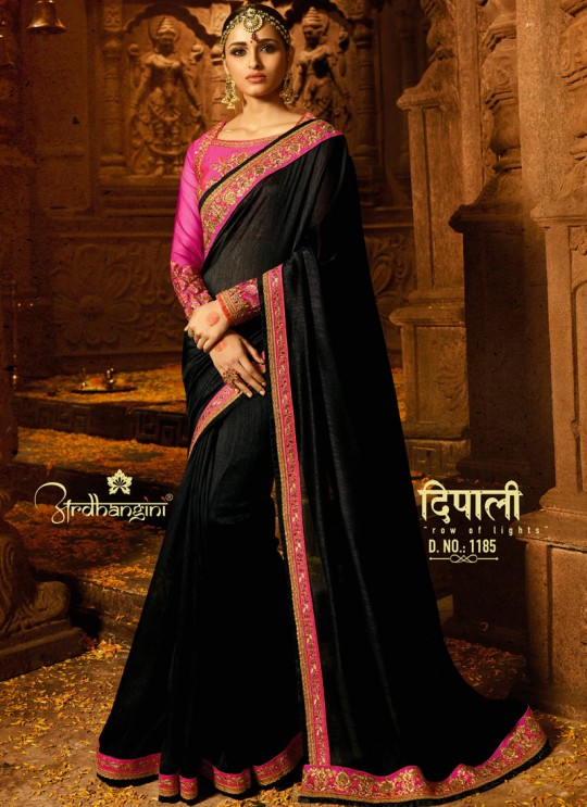 Black Silk Wedding Saree Sakshi Vol 4 1185 By Ardhangini