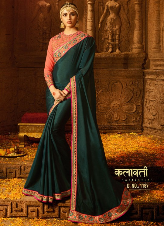 Green Silk Wedding Saree Sakshi Vol 4 1187 By Ardhangini