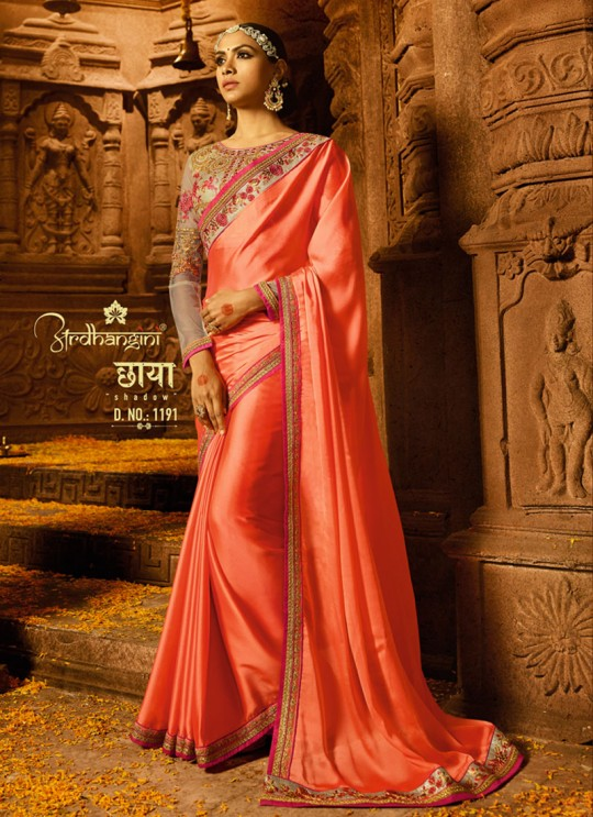 Peach Silk Wedding Saree Sakshi Vol 4 1191 By Ardhangini